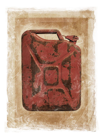 Grunge dirty photomanipulation of a jerry can fuel container. White Background Studio Shot No People Single Object Dirty Jerry Can Jerry Casual Clothing Gasoline Gas