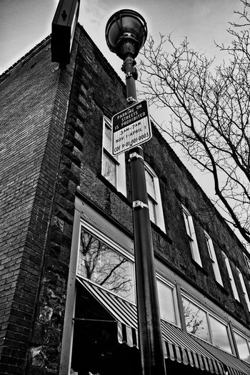 Prohibited Low Angle View Architecture Building Exterior Outdoors No People Monochrome Photography Black And White Street Photography Hip Shot No Viewfinder Street Photography