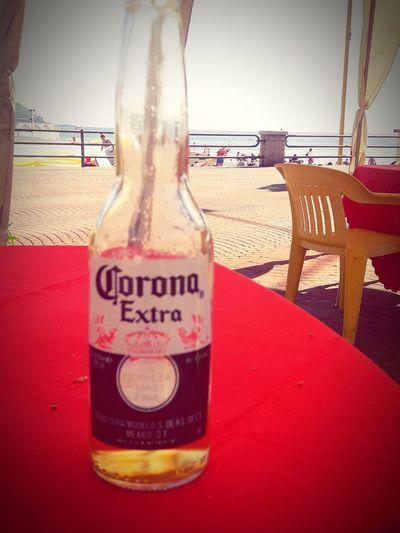 assaggi d'estate #beer Drink Beach Red Bottle Text Communication Sea Close-up First Eyeem Photo