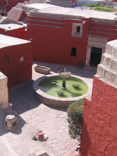 Architecture Arequipa Arequipa - Peru Built Structure Day Drinking Fountain High Angle View Monastary Monasterio De Santa Catalina No People Outdoors Sunlight