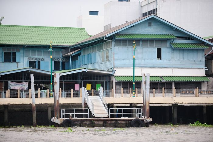 Architecture Bangkok Building Exterior Built Structure Chao Praya  Day Exterior Façade House In A Row Lawn Leading Narrow No People Obsolete Outdoors Residential Building Residential Structure Roof Thailand Urban Window