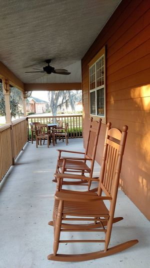 Chair No People Architecture Rocking Chair Country Life Country House Rocker Porch Porch View Porch Sittin' Porch Sitting Porch Life Porch Time Rocking Chairs Cabin Porch Cabin Life Cabin