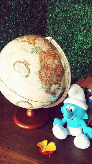 Globe Globe Décors Smurf Photography