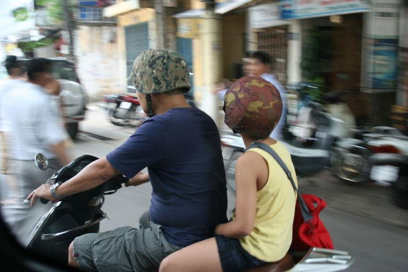 City Hannoi Helmets Mode Of Transport Motorbike Motorcycles Outdoors Street Urban Lifestyle Vietnam
