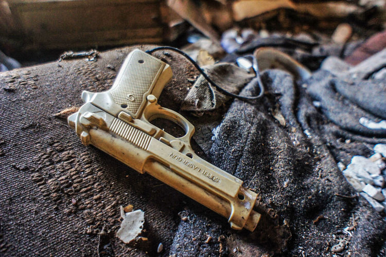 Toy gun Abandoned Close-up Day Forgotten Gun No People Outdoors Toys