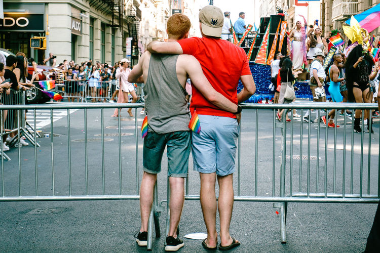 Pictures are taken during the 2017 pride parade in NYC. City Life Colorful Colors Daylight Lgbt Lgbt Pride People People Photography Pride Pride Flag Pride March Pride Parade Prideparade Prideparade2017 Public Space Street Art Street Photography Streetphotography Walking Around The City  Walking People Young Adult EyeEm Selects Love Is Love