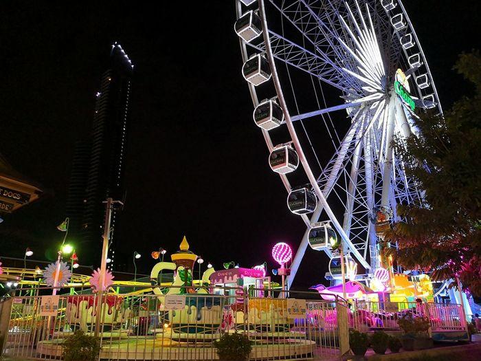 Asiatique The Riverfront Amusement Park Amusement Park Ride Architecture Arts Culture And Entertainment Built Structure City Enjoyment Fairground Fun Night Nightlife Sky