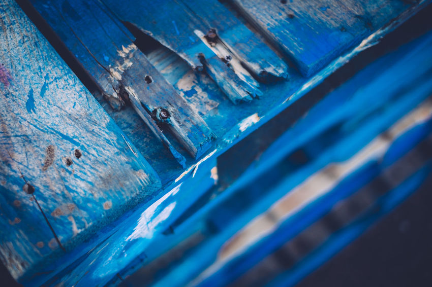 Backgrounds Blue Close-up Crates Day No People Outdoors Palettes Wooden