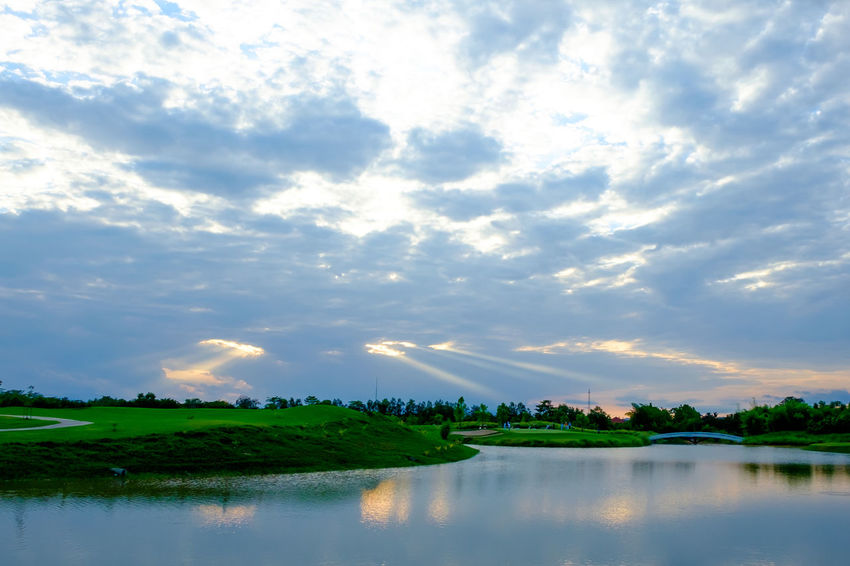 Beauty In Nature Cloud - Sky Day Nature No People Outdoors Reflection River Scenics Sky Tranquil Scene Tranquility Travel Destinations Tree Water Waterfront