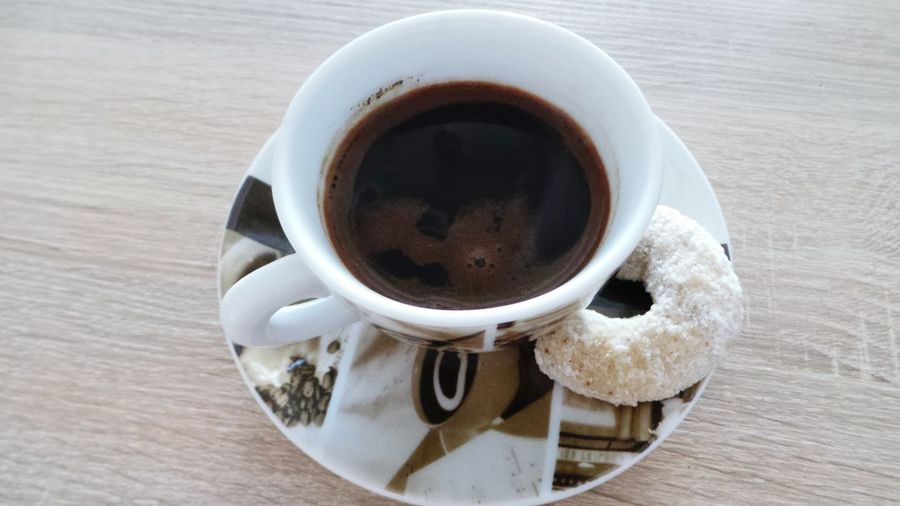 Turkish Coffee Cup Of Coffee Plate Wallnut Cookie Delicious Relaxing Enjoying Life Relaxing Moments Coffee Time Drinking Coffee Sweets
