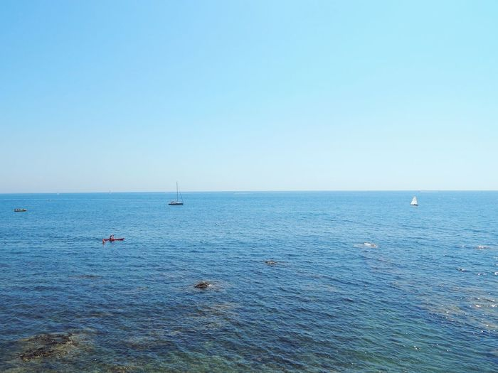 Tyrrhenian Sea, Santa Marinella, Italy Beach Blue Water Sea Outdoors Beauty In Nature Sky Clear Sky Sailing Ship Day Daytrip Travel Photography Beauty In Nature Rom An Eye For Travel