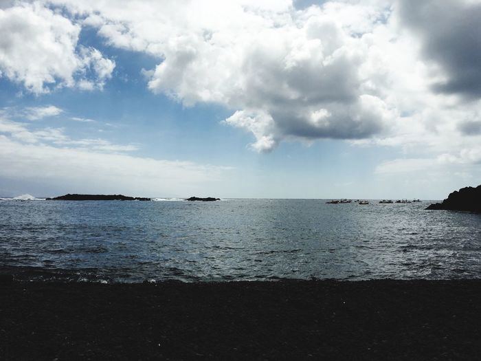 Cloud - Sky Water Sky Sea Scenics - Nature Beauty In Nature Tranquility No People Tranquil Scene Beach Horizon Over Water Idyllic Horizon Rippled Nature Day Non-urban Scene Land Outdoors