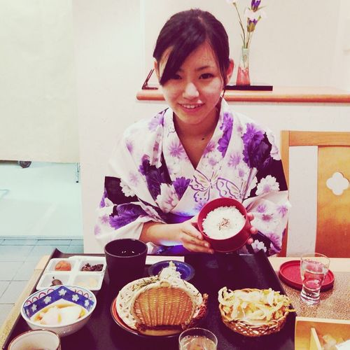 In hakone. Without makeup:( Hakone Hot Springs YUKATA That's Me