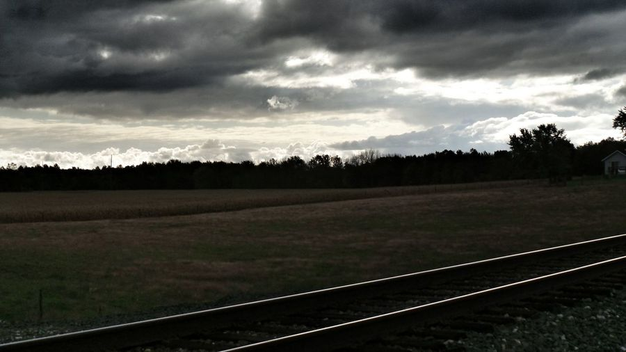 The Dark Landscape Landscape Landscapes Taking Photos Train Tracks Sky