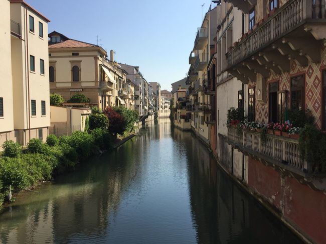 Architecture Building Exterior Built Structure Canal Canals City Clear Sky Day House Italia Italy Nature No People Outdoors Padova Padua Reflection Residential Building Sky The Way Forward Tree Water Waterfront