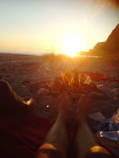Beach Nature Sunset Sea Human Leg Real People Sunlight Beauty In Nature Tranquil Scene Tranquility Human Body Part Scenics Sky Men Outdoors Barefoot Clear Sky EyeEmNewHere