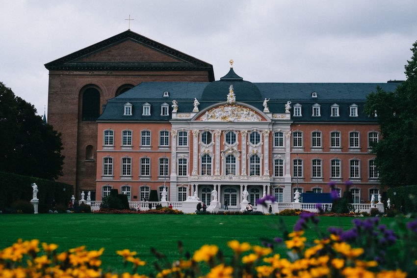 Architecture Building Exterior Built Structure Day Façade Flowers Grass Outdoors Trier Trier, Germany's Oldest City