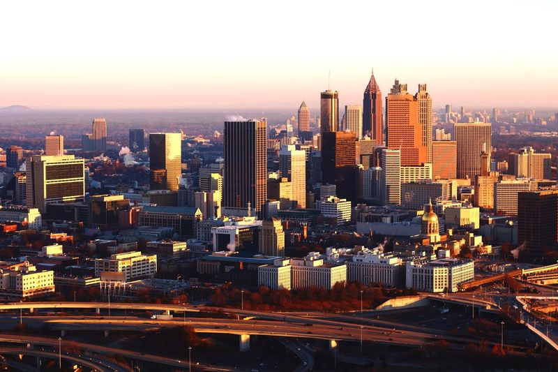 Atlanta's south side Cityscape Skyscraper Architecture City Building Exterior Built Structure Skyline Development Travel Destinations Urban Skyline Modern City Life Crowded Tower Outdoors Growth Tall Corporate Business Sunset Building Story