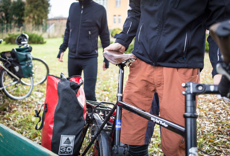 On the road with Ortlieb Adult Bicycle Bike Tour Brooks Brookssaddles City Day Fahrrad Fahrradtasche Fahrradtour Men On The Road Only Men Outdoor Outdoor Photography Outdoors Pannier Bags People Saddle Tour Second Acts Summer Sports