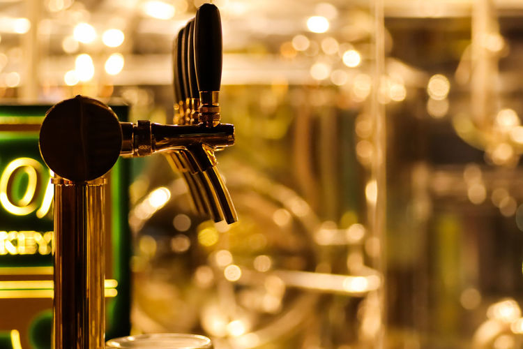 beer taps to