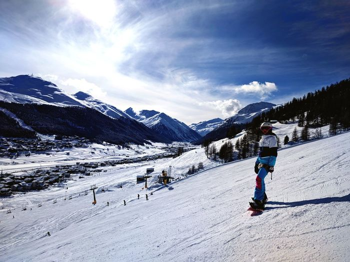 Cold Temperature Skiing Snowboarding Snowcapped Mountain Nature Adventure Winter Sport
