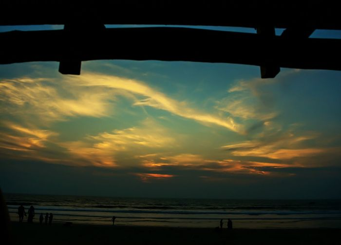Sea Sky Sunset Silhouette Beach Outdoors Nature Vacations Horizon Over Water Cloud - Sky Beauty In Nature First Eyeem Photo Water Star - Space India Mangalorecity Beaches Beach Sunset Sunset Lovers Cloudscapes Eveningsky Night No People