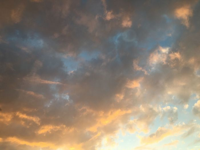 Sky Cloud - Sky Low Angle View Sunset Backgrounds Beauty In Nature No People Tranquility Full Frame Scenics - Nature Cloudscape Outdoors Idyllic Tranquil Scene Dramatic Sky Orange Color Atmosphere Abstract Meteorology Nature