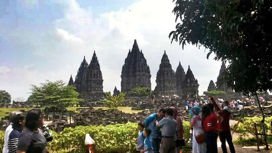 Prambanan Tample History People Travel Destinations Day Architecture Real People Men Women Outdoors Sky INDONESIA Tample Legend Javanese Architecture Java Javanese Architecture Adventure Education Edu Art
