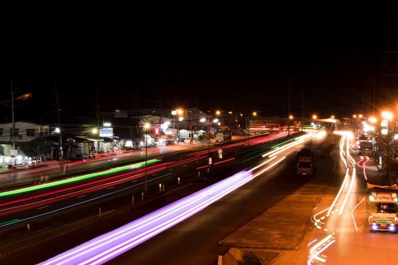 Night Light Trail Long Exposure Road Street Traffic First Eyeem Photo