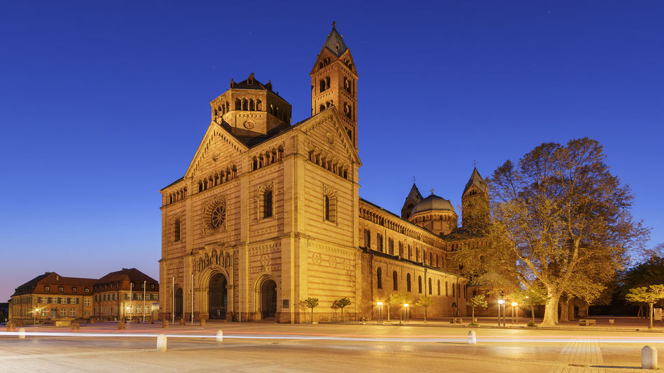 Clear Sky Germany Morning Romanesque Architecture Speyer Speyerer Dom Travel Destinations Twilight World Heritage