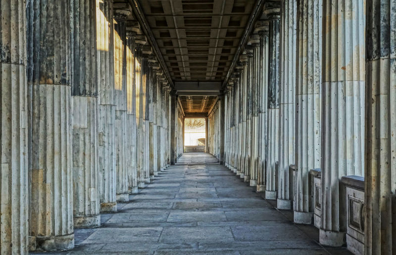 Arcade Architecture Arkaden Built Structure Colonnade Day Historic Indoors  No People Pillars Säulen The Way Forward