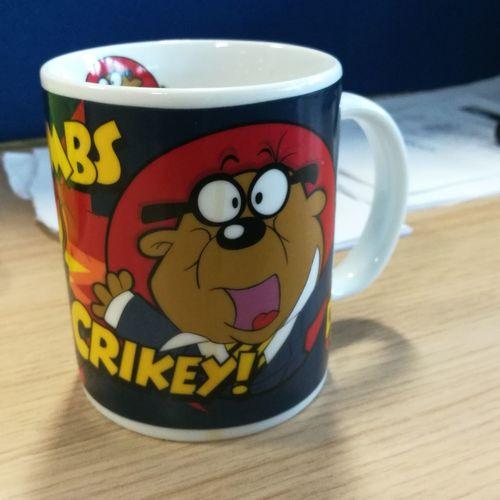 Love my mug... Cartoon Penfold Dangermouse Drink Table Close-up Tea Beverage