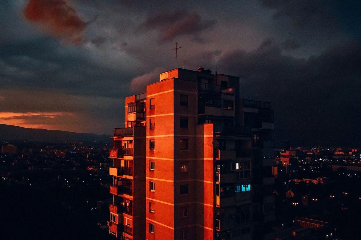 Zagreb Cityscape Sunset Building Exterior Sky Architecture Built Structure Night Orange Color Cloud - Sky No People City Building