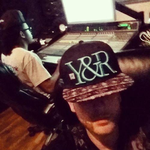 Me and @sanibanks gettin it in last night @ 713 Studios in Houston