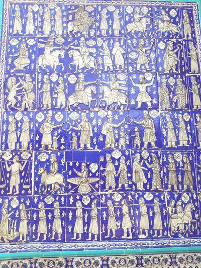 Iran, Kermanshah Tekye MoavenOlmolk Old Tiling Travel In Iran