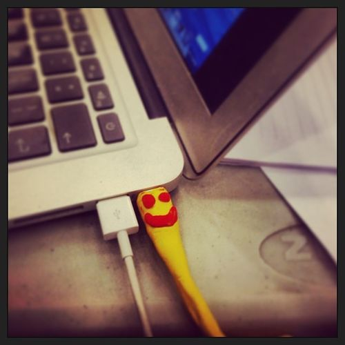 Mac Book Pro Connector is smiling creativity apple laptop charger mce hackaton