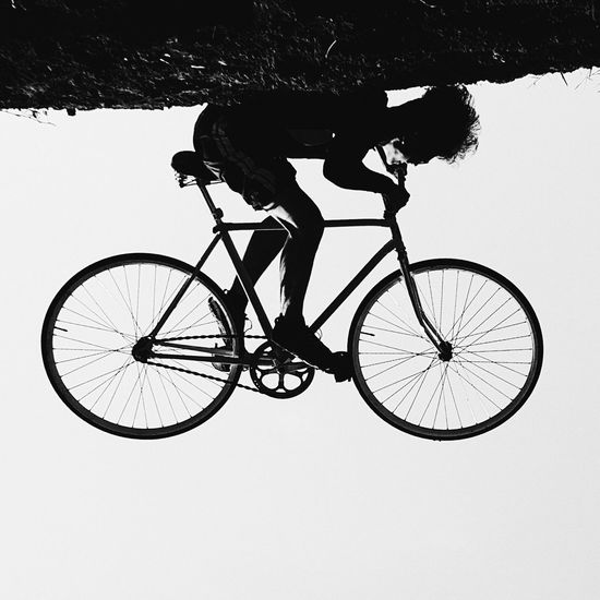 Biking in a different perspective Fixie Fixed Gear Fixed Bike Blackandwhitefixie Upside Down Fixie Malabsay Trail Itsmorefuninthephilippines Bicol FixiedGearBicol Healthy Lifestyle Biking