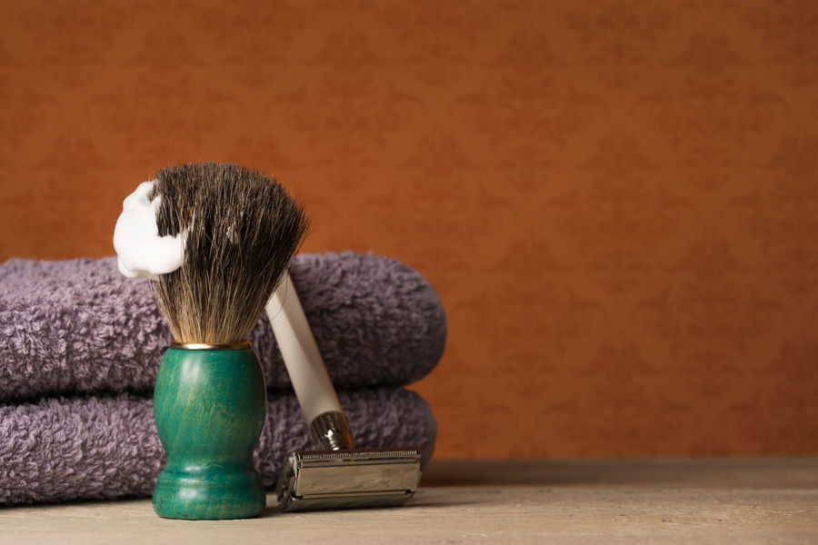 Barber Barbershop Beard Close-up Day Depilation Equipment Hygiene Indoors  Indoors  Man Men No People Razor Retro Retro Style Shave Shaver Shaving Shaving Brush Table Vintage Wood Wood - Material