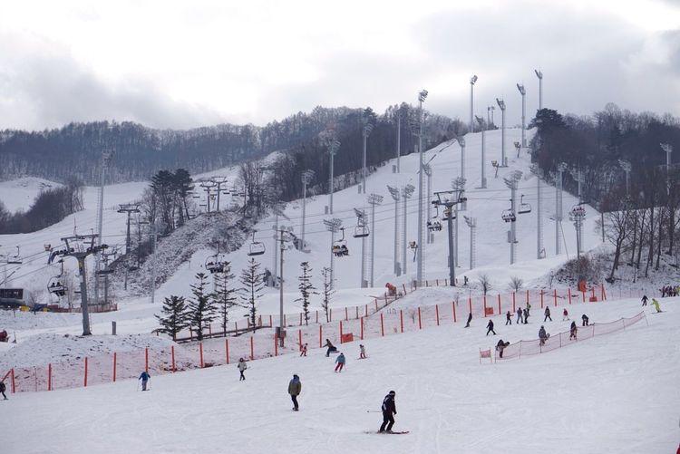 Ski Skiing ❄ Skiresort Snowboard Snowboarding White Snow Snowcovered Nice Nice View Niceday Cold Cold Temperature Coldweather Windy Korea Korean Trip Koreantravel Soul City