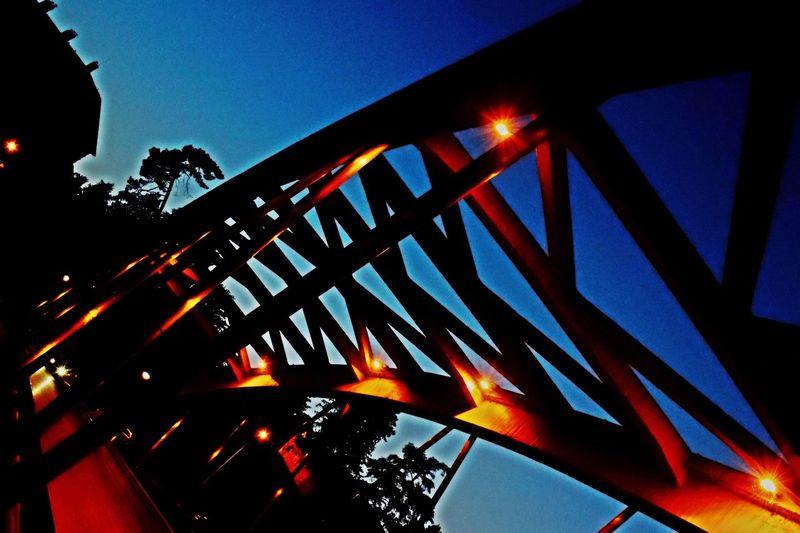 Ponte Illuminated Outdoors Night