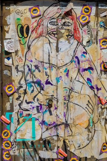 Multi Colored Graffiti Backgrounds Full Frame Built Structure No People Architecture Day Close-up