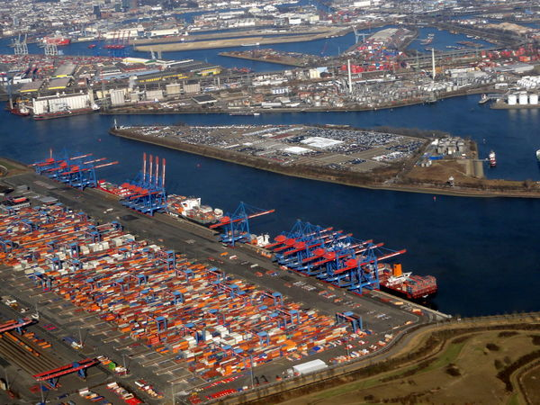 Aerial Photography Aerial Shot Aerial View Capital Cities  City Life Cityscape Container Terminal Hamburg Harbour Hamburger Hafen TOWNSCAPE Flying High