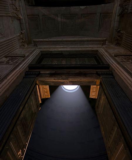 The interior of