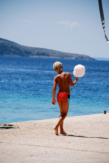 Beach Croatia Beach Sea Rear View Full Length Shirtless Day EyeEmNewHere Vacations Summer Water Nature Young Adult Sky