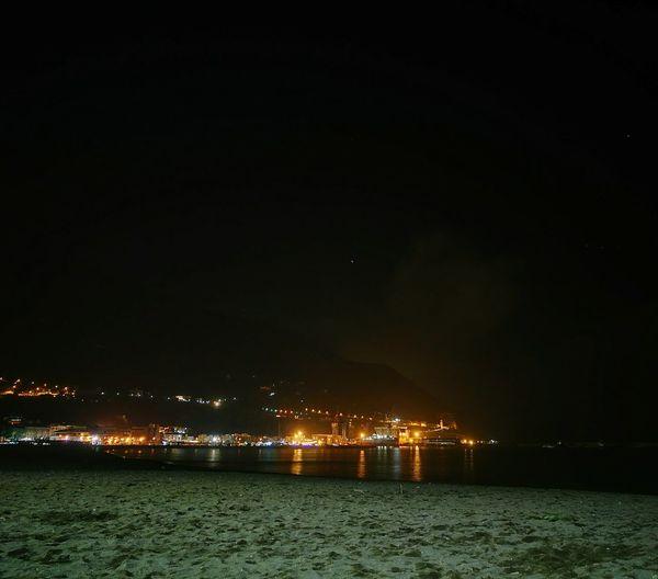 Castellammaredistabia Illuminated Night Sea Vacations Scenics Beach