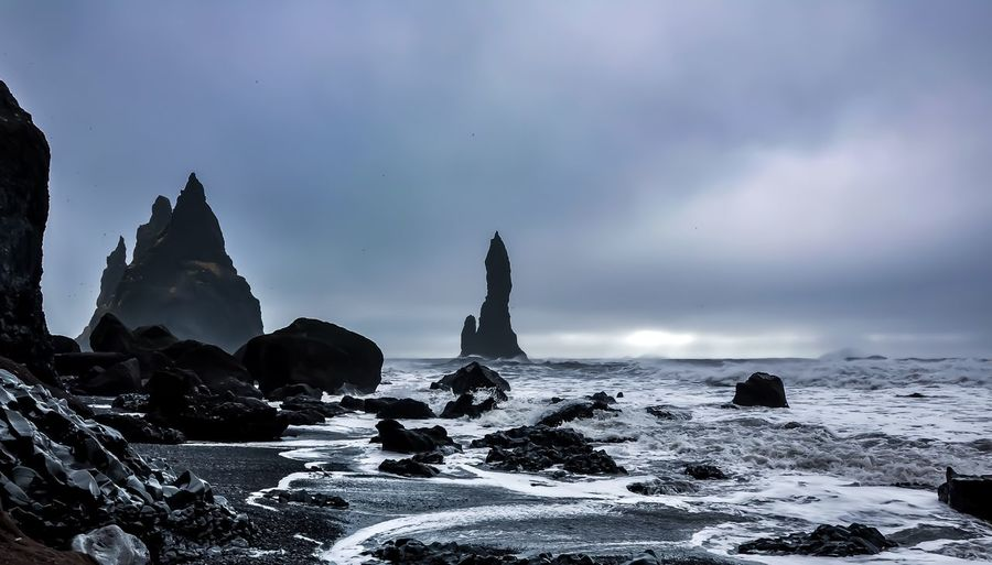 South Iceland Black Sand Beach Iceland Architecture Built Structure Building Exterior Building Scenics - Nature Travel Destinations Cold Temperature Spirituality Winter Belief Beauty In Nature Travel Snow My Best Photo