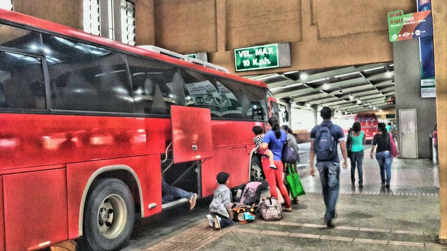 Transport Terminal Station Bus Fotografieren Viele Leute