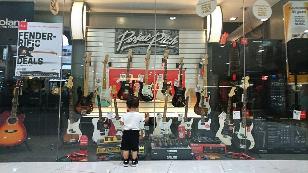 Someday! Dream Big Musician Music Guitar Waki Dans EyeEmNewHere The Week On EyeEm Little Boy Dream EyeEm Best Shots EyeEmBestPics EyeEm Gallery Pitch Perfect Fender