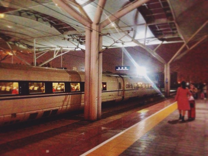 IPhoneography Travel Traveling Railwaystation Highspeed Railway Night First Eyeem Photo