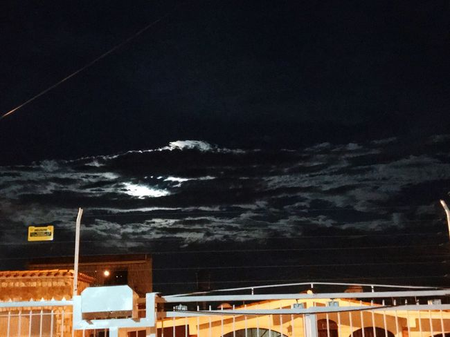 Look at the sky Night Illuminated Sky Architecture No People Built Structure Bridge - Man Made Structure Outdoors Transportation Cloud - Sky Nature Building Exterior Low Angle View Beauty In Nature